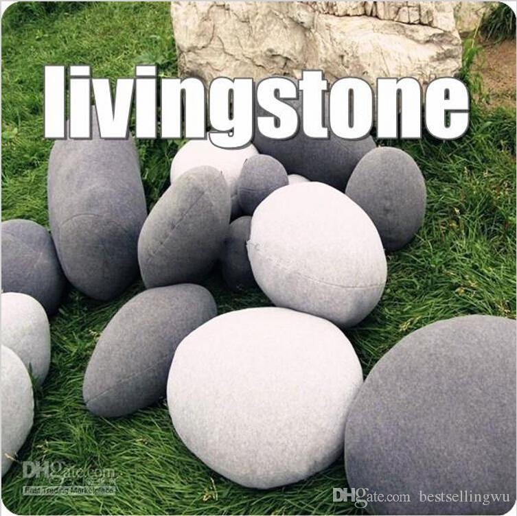 Novelty 3d Living Stone Gray Throw Pillows Pebble Sofa Cushion Toys For Kids Bedroom Home Decor Gifts 3d Pillow Throw Pillows Sofa Cushion Online With