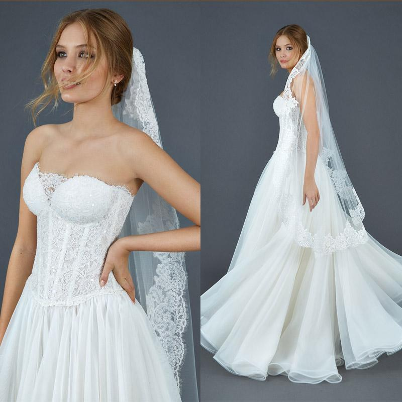 2016 sequin lace a line wedding dresses beautiful for Lace western wedding dresses