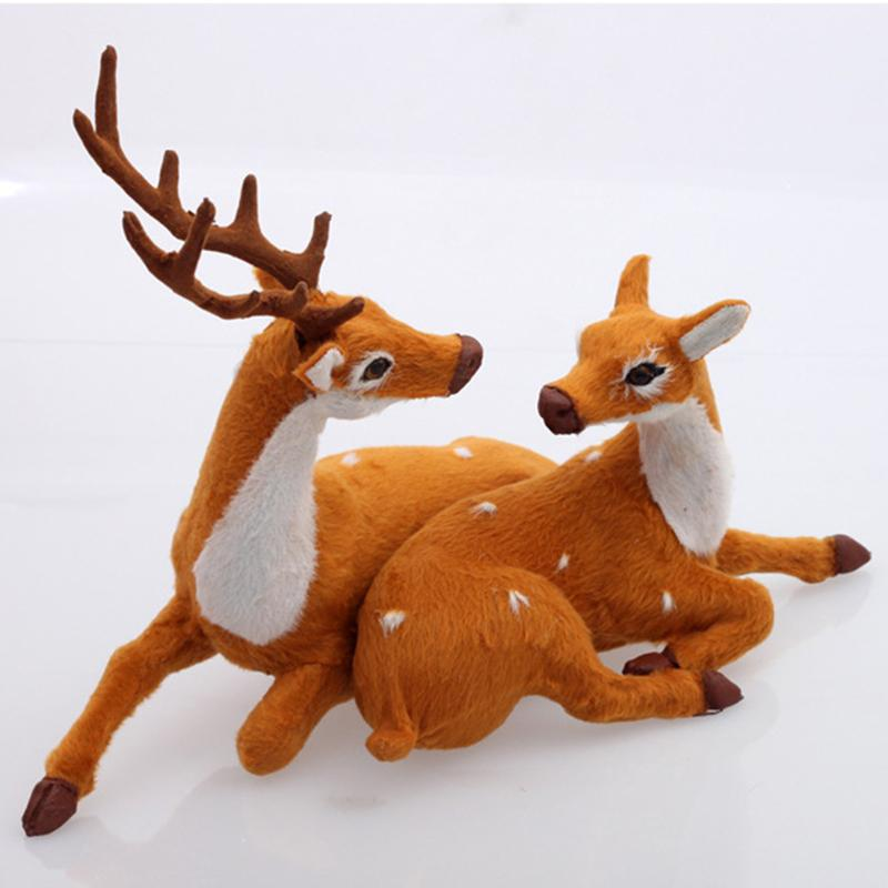 Wholesale christmas couple deer reindeer indoor home for Christmas deer decorations indoor