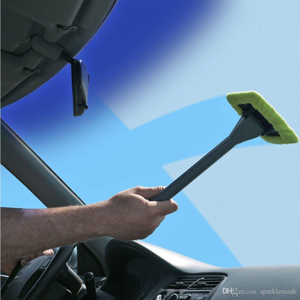 2017 2 windshield clean car glass cleaner wiper handle wand microfiber cloth auto new by fedex. Black Bedroom Furniture Sets. Home Design Ideas