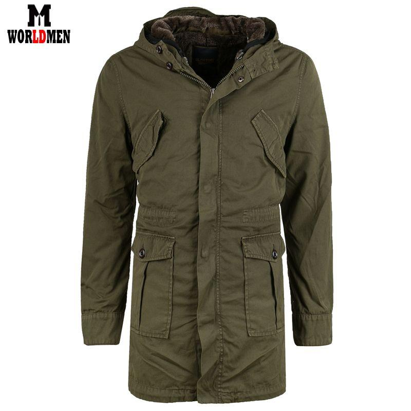 2015 Long Men Cotton Winter Coat Brand Thick Winter Jacket Outdoor ...