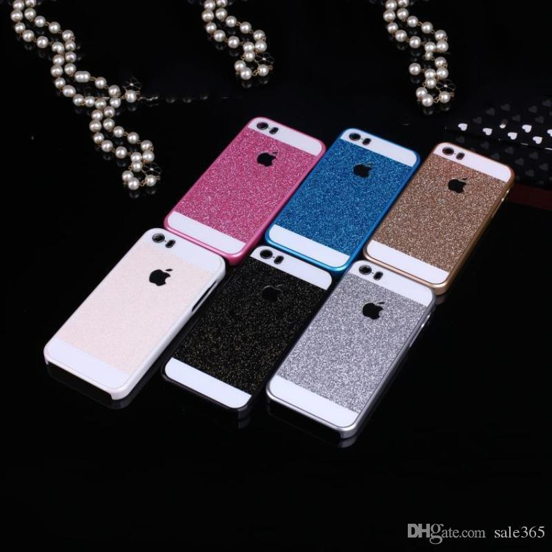 iphone 5s gold case for girls. bling glitter case cover for iphone 6 plus 4.7 5 5s 4 girl shiny flash powder cases pink black silver gold blue iphone 5s girls
