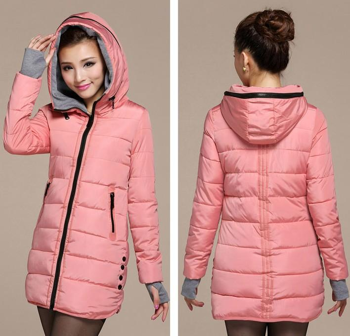 2017 Women'S Cotton Padded Jacket 2015 Winter Medium Long Down