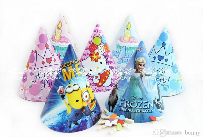 Cartoon Party Hats Festive Party Supplies Birthday Decorations