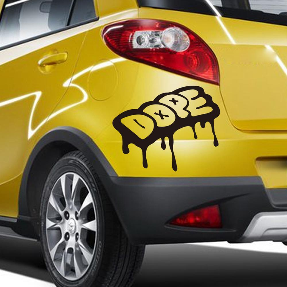 Car mirror sticker design - Cool Drip Dope Graffiti Style Vinyl Cars Trucks Race Car Decals Stickers Car Styling Car Sticker Car Covers Online With 2 47 Piece On Supersix S Store