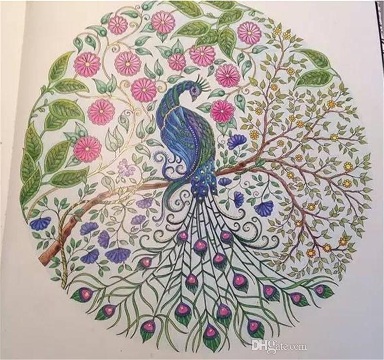 Coloring Book Secret Garden : Hot sell secret garden hand draw beautiful classic coloring book a