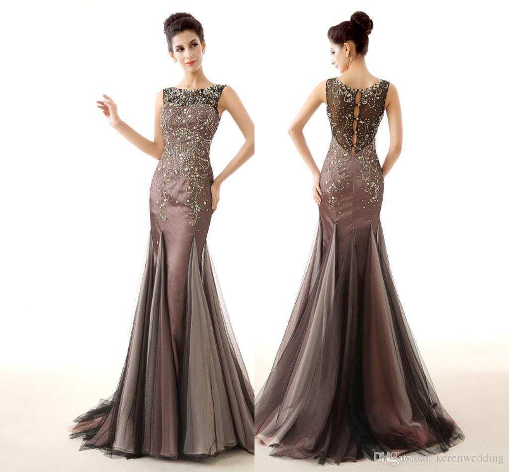 Real Picture 2015 Designer Evening Dresses Vintage Style Beading ...
