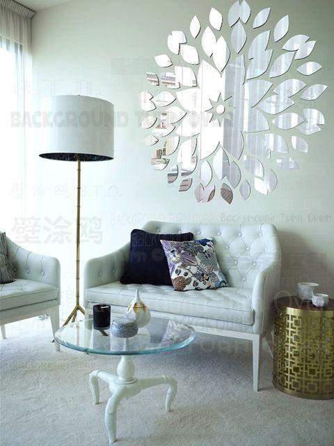 diy mirror wall stickers acrylic mural sticker home grand miroir mural pour une d 233 co 233 l 233 gante