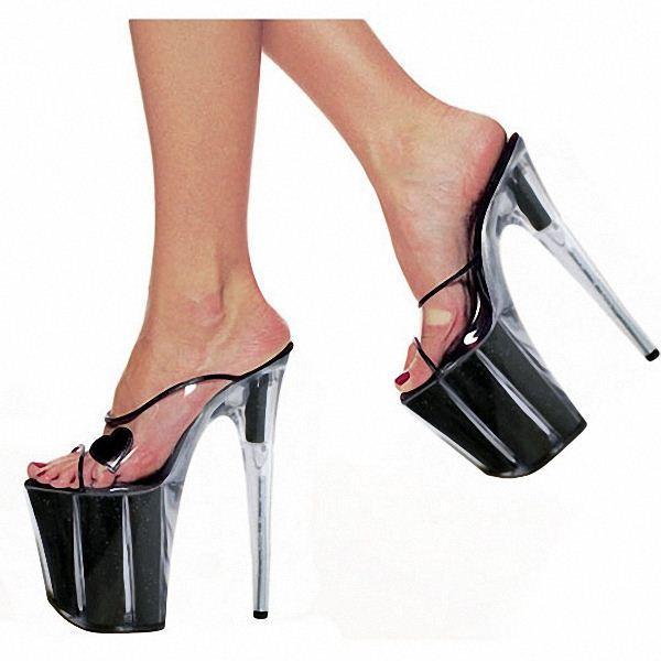 20cm Women'S Ultra High Heel Shoes Queen Crystal Platform Shoes ...