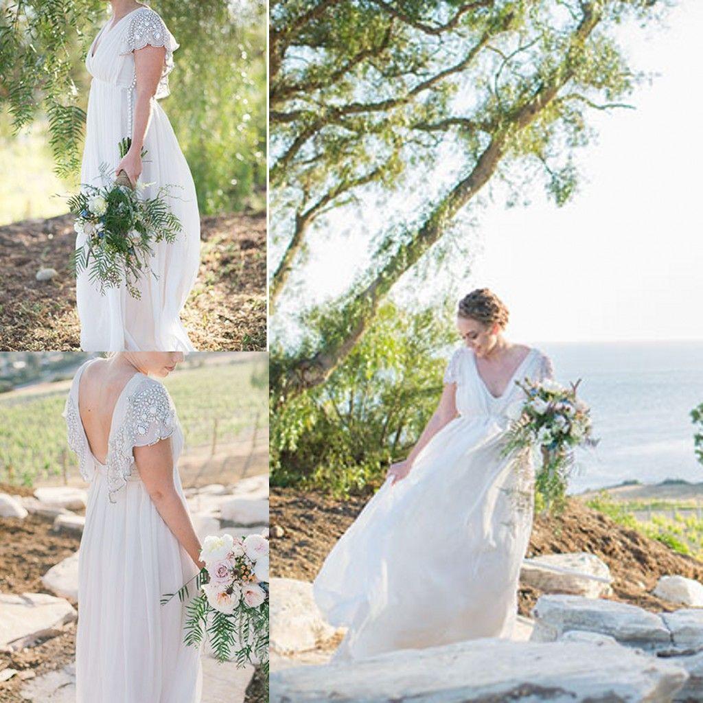 2015 Bohemian Wedding Dresses For Boho Chic Brides Hot Sale Cheap Plus Size Personalized Beach