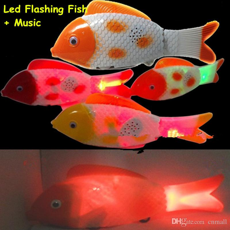 2017 led flash fish toys led electronic toys fish durable for Battery operated fish