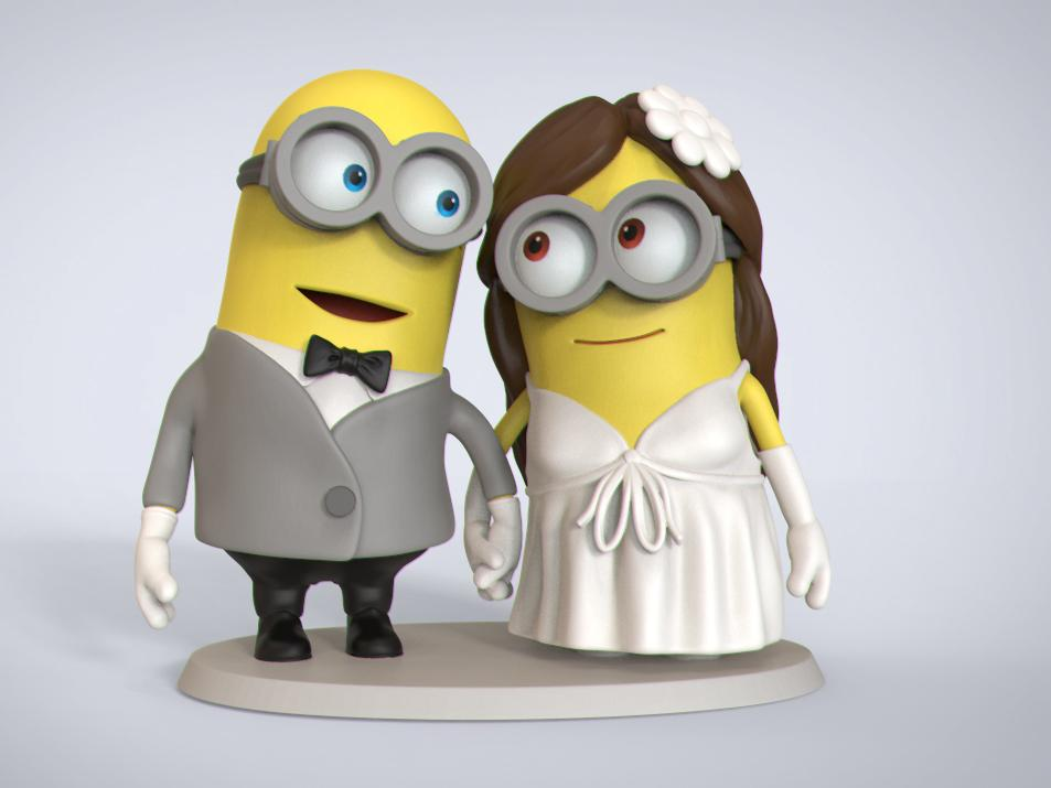Wedding Cake Topper Minions
