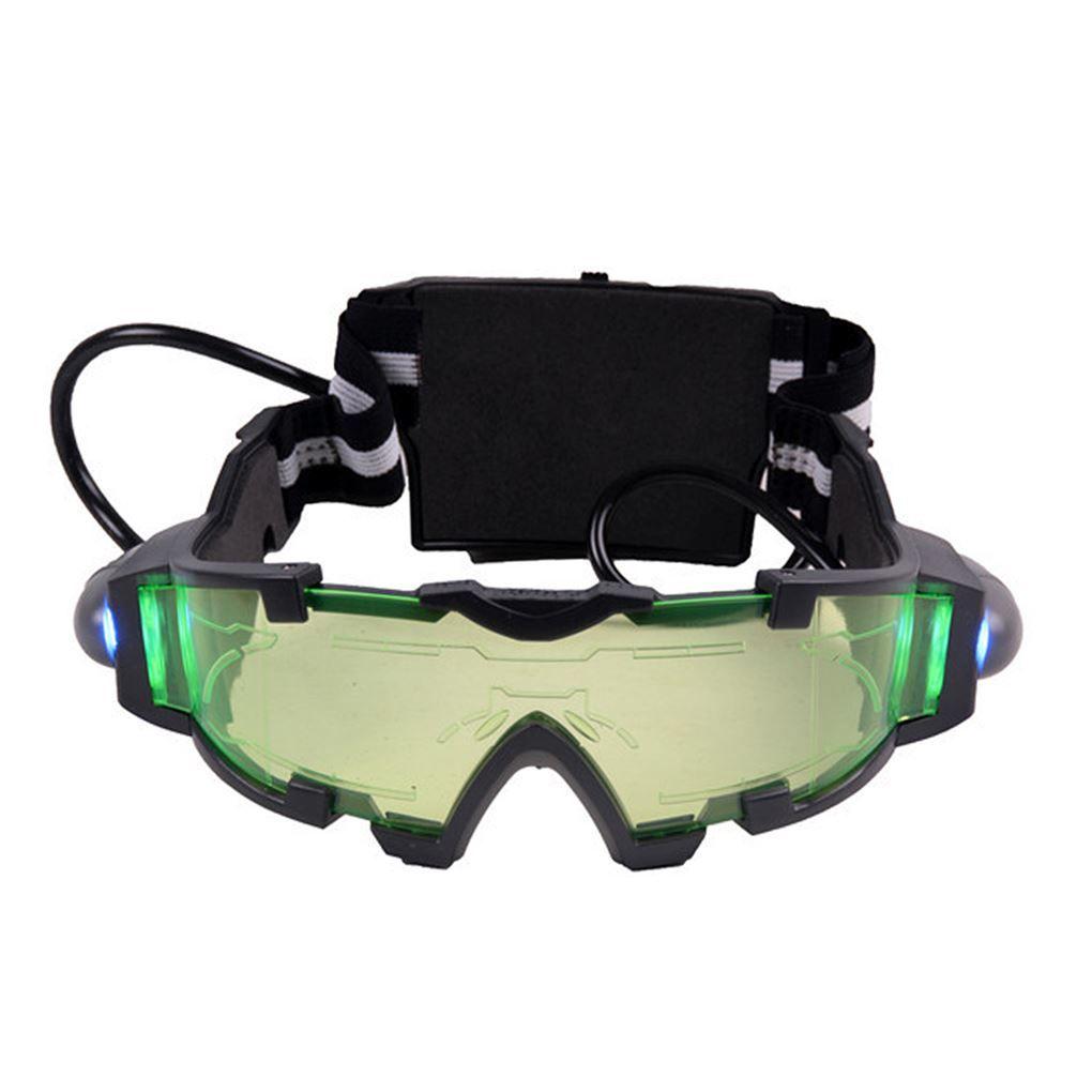 high quality goggles  High Quality Fashion Green Lens Adjustable Elastic Band Night ...
