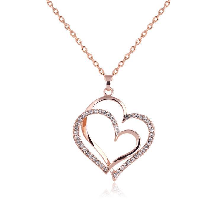 Wholesale Women Love Heart Pendant Necklace Gold Chain ...