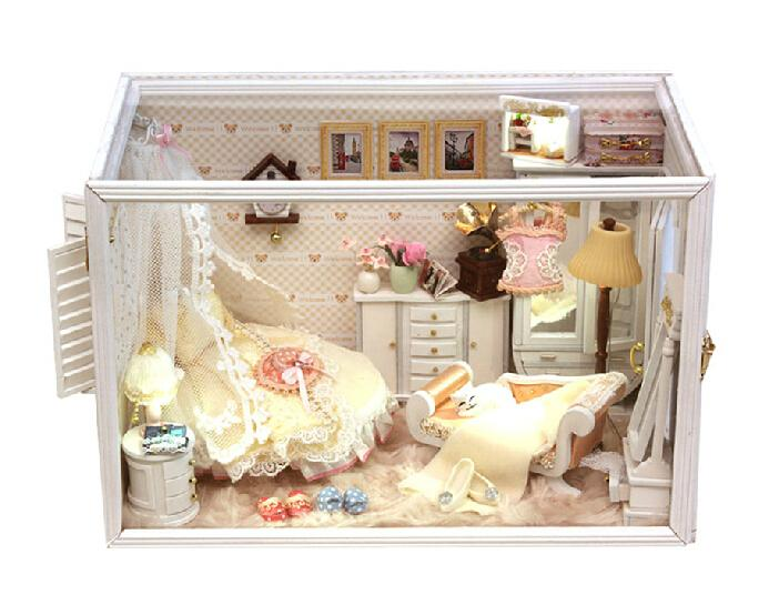 diy doll house model building kits 3d miniature handmade wooden dollhouse toy christmas birstday gift building doll furniture