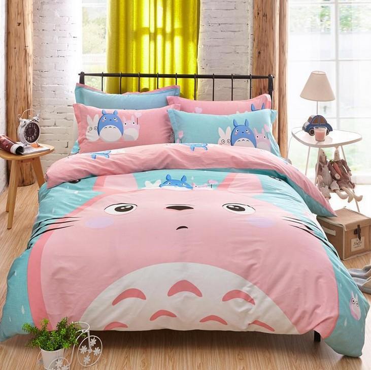 totoro duvet bedding set cat bed sheet bedspread kids twin queen size full double single doona bedroom queen sets kids twin