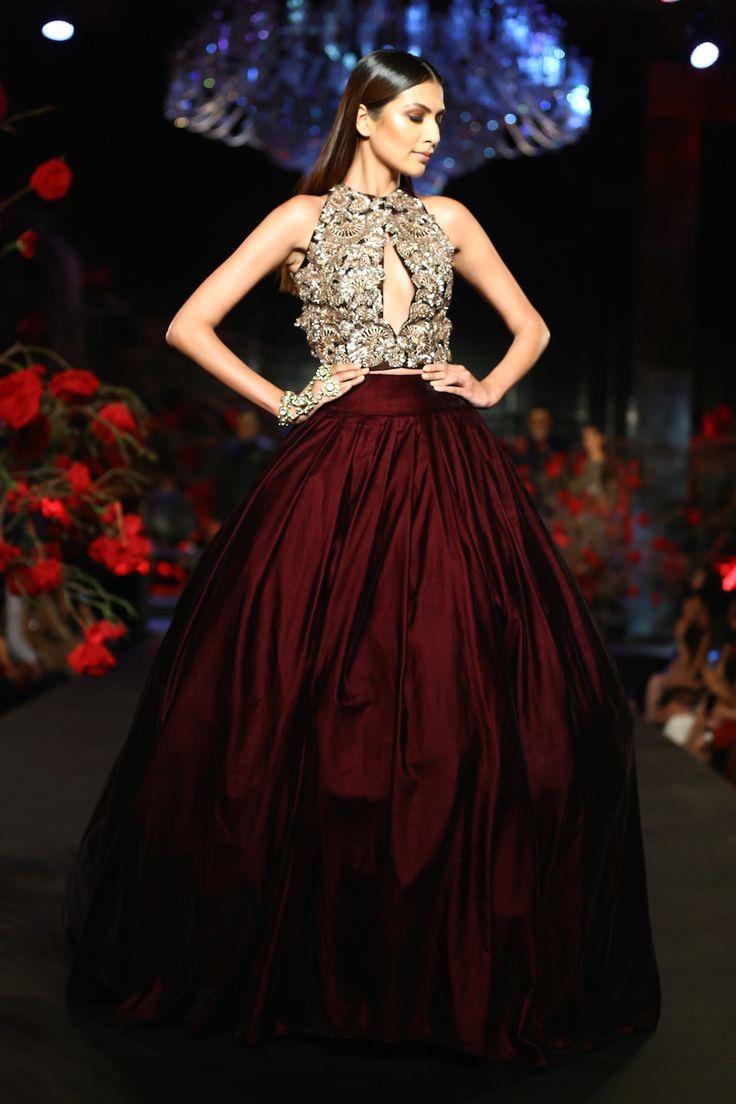 Burgundy Satin Skirt Ball Shape Formal Skirts With Petticoat For ...