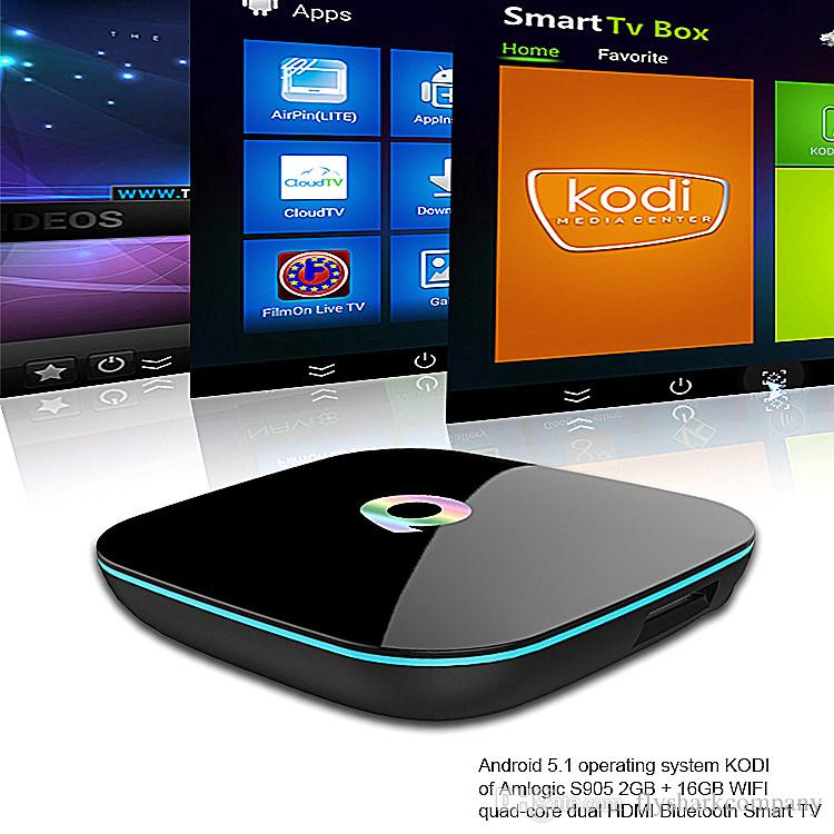 Smart Tv Boxes Q Box Android S905 Stream Boxes 2g/16g ...