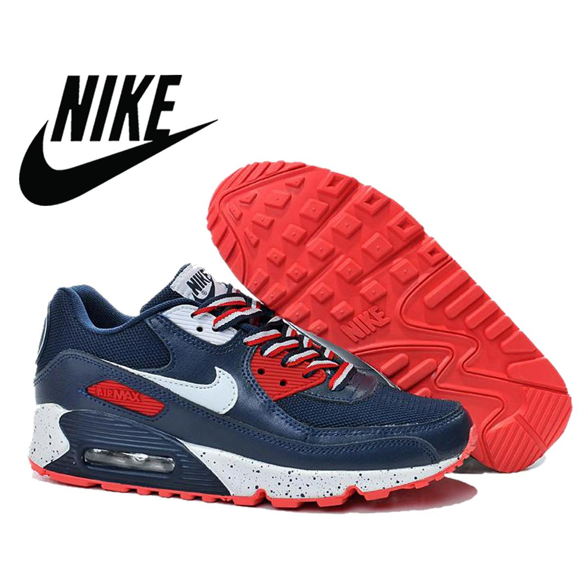 Nike Air Max 90 Men Running Shoes 2016 Discount Blue Nike Maxes Sport Shoes  Breathable Athletic