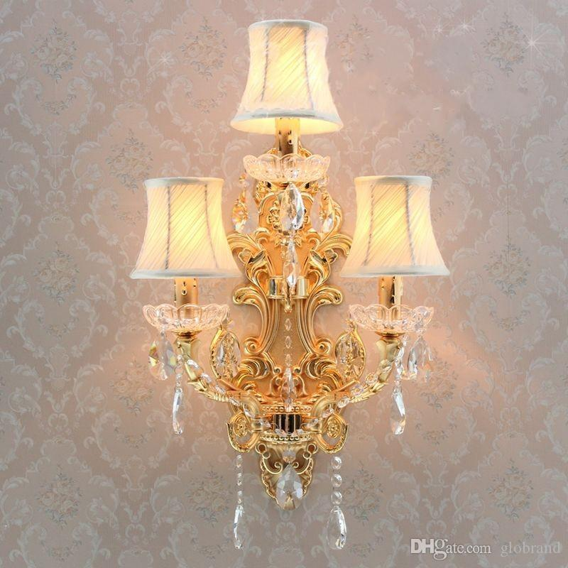 Large Decorative Wall Lights : 2017 Three Lights Wall Lights Decorative Candle Wall Sconces Large Brass Wall Sconce Hotel Wall ...