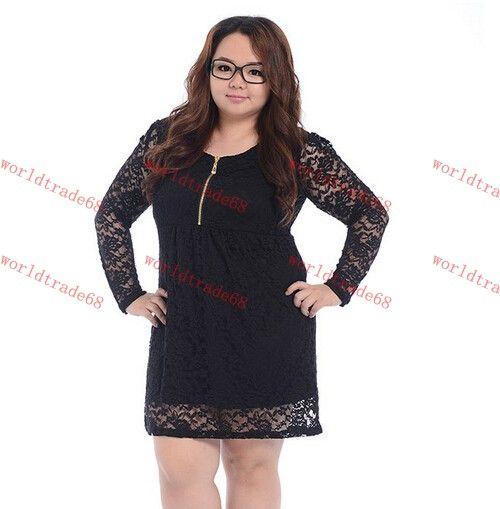 Hot Sale Plus Size Lace Women Vestidos Dress Full Figure Lady ...