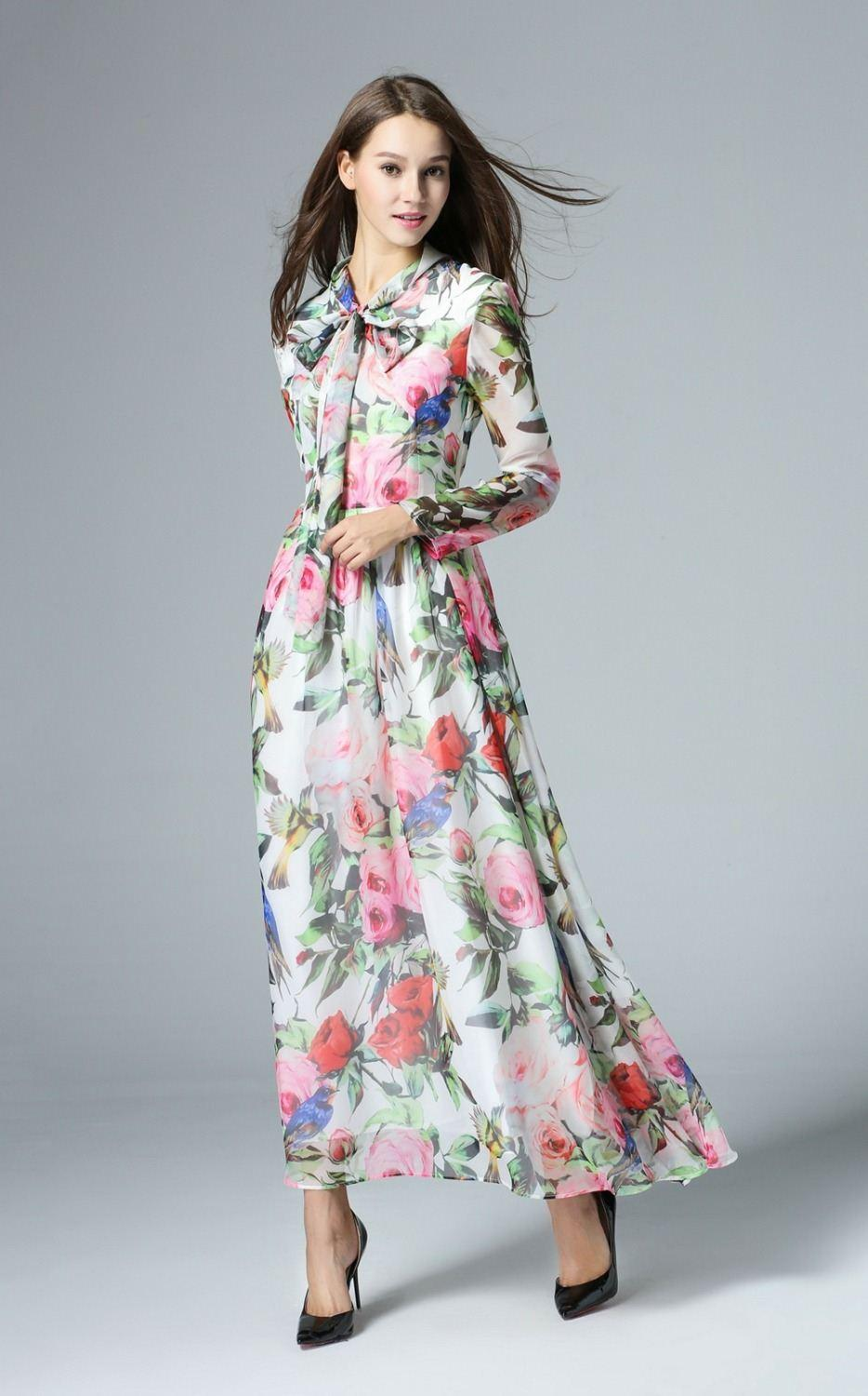 long dresses with sleeves for summer | Gommap Blog