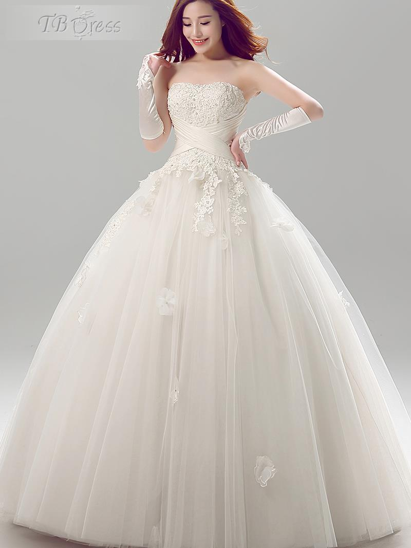 cheap modern wedding dresses empire floor length ball gown