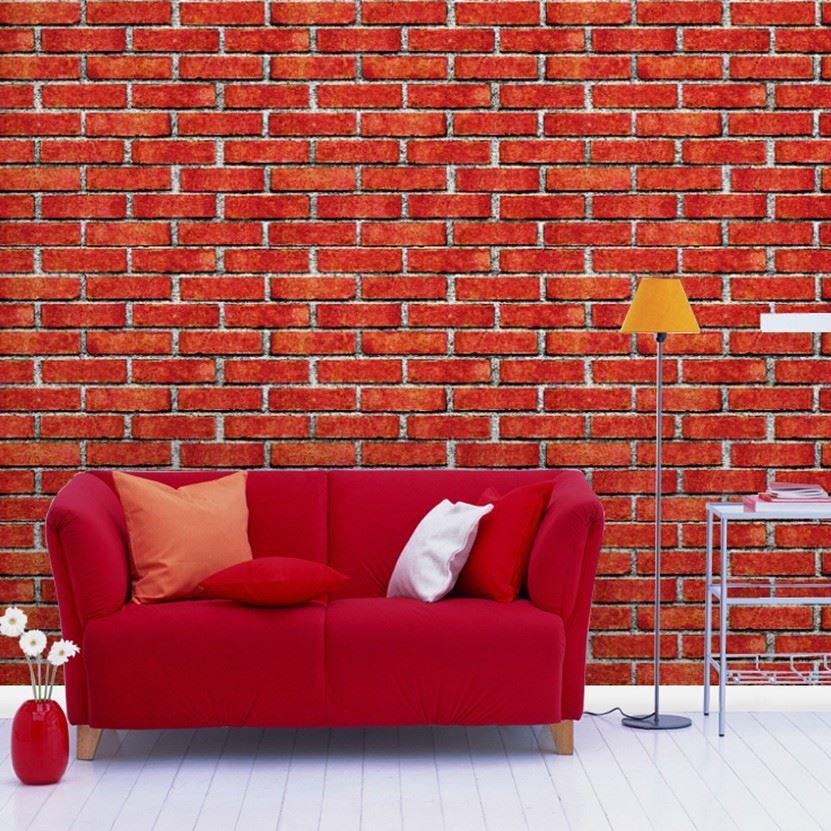 Chinese red grey brick wallpaper texture vinyl wallpaper for Grey brick wallpaper bedroom