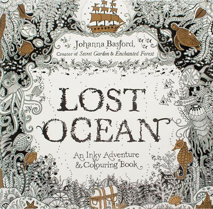 lost ocean coloring books an inky treasure hunt and coloring book adult children relax graffiti painting book secret garden coloring books alice coloring