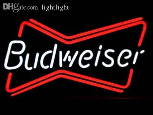 2018 Wholesale Budweiser Classic Bow Tie Neon Beer Signs