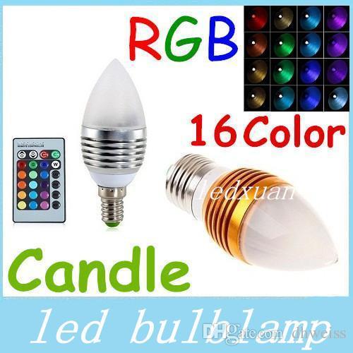 led new arrival rgb e27 e14 e12 5w led cande lights frosted coverchange led bulbs light silver. Black Bedroom Furniture Sets. Home Design Ideas