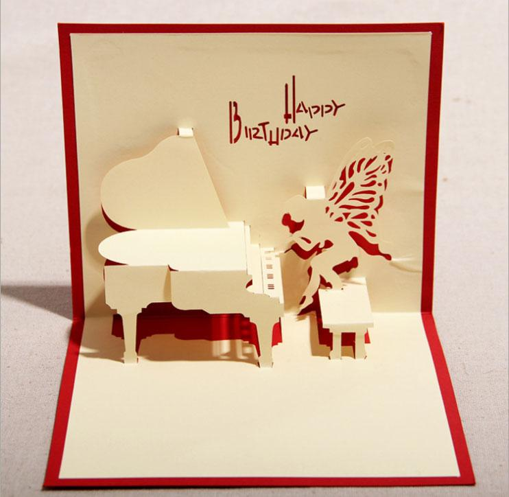 130mm160mm Piano Greeting Cards Fashion Greeting Cards Blessing – Fashion Birthday Cards