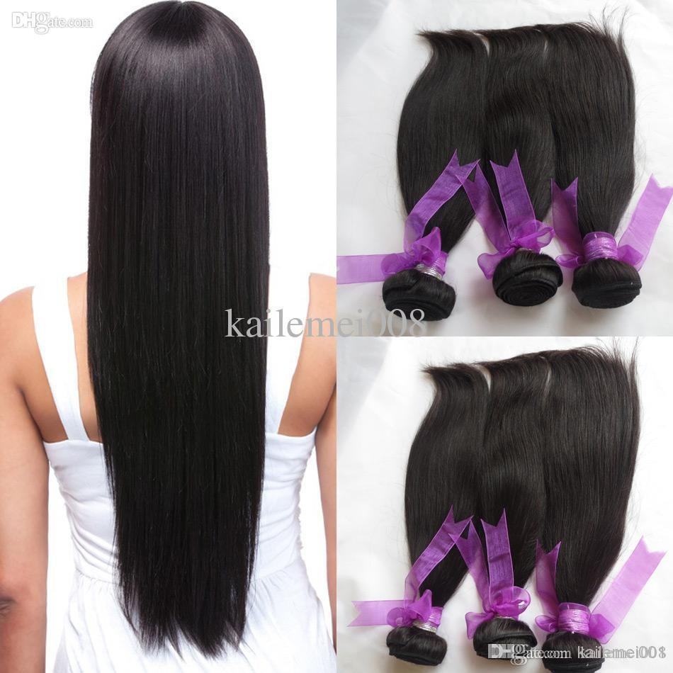 Fine Natural Black Human Hair Sew In Weave 4 Bundles Virgin Brazilian Hairstyle Inspiration Daily Dogsangcom