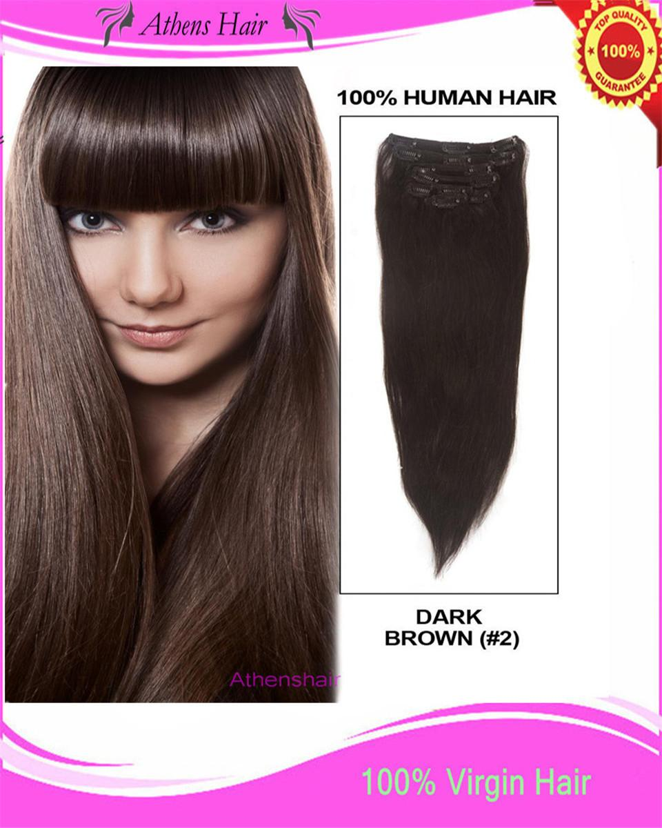 70g brazilian virgin remy hair clip in human hair extensions full 70g brazilian virgin remy hair clip in human hair extensions full head dark brown brazilian virgin hair human hair clip in hair extension online with pmusecretfo Choice Image