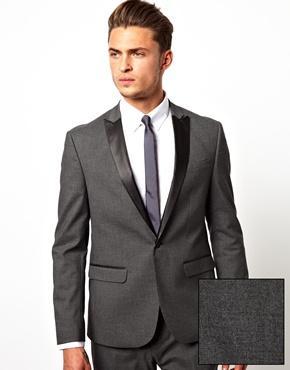 Custom Made Narrow Peak Satin Lapel Gray Groom Wear Tuxedo/Wedding ...