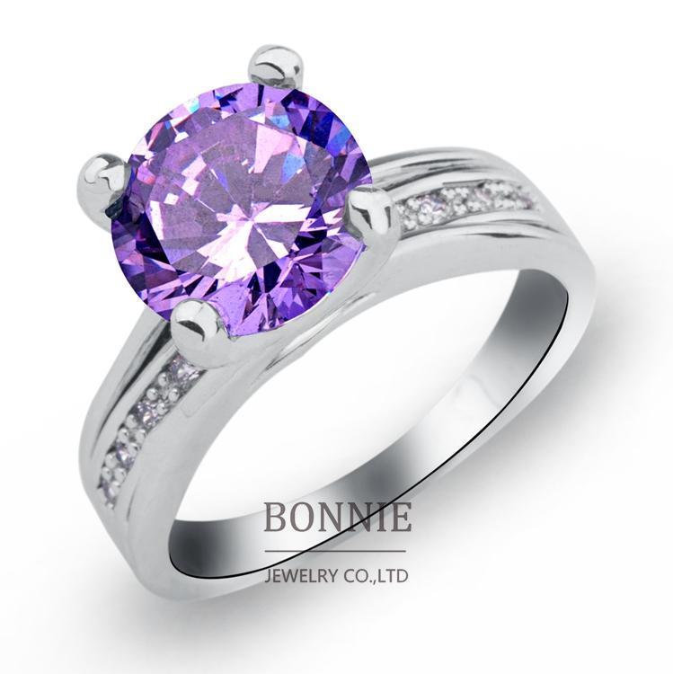 see larger image - Purple Wedding Ring