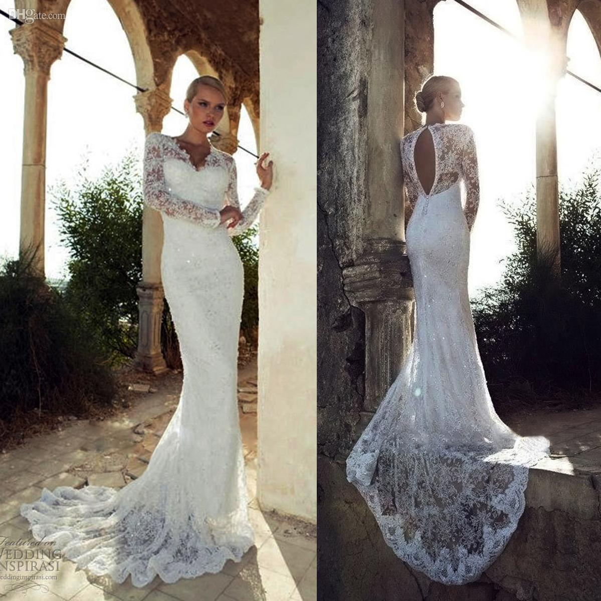 Fishtail Wedding Dress With Train : Berta wedding dresses charming sexy fishtail long train v neck