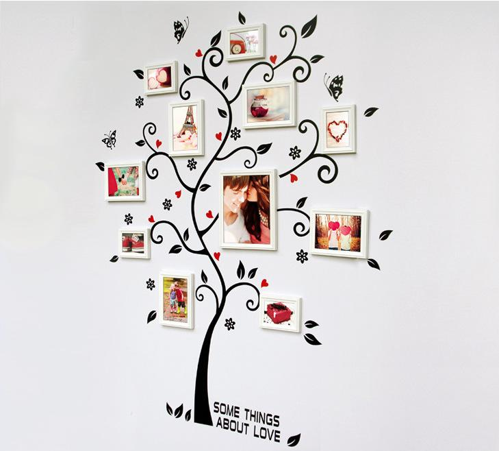 Family Tree Wall Picture Frame room photo frame decoration family tree wall decal sticker poster
