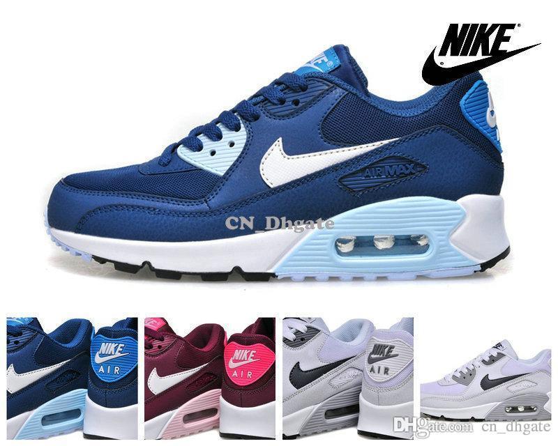 ... Nike Air Max 90 Mens Running Shoe Fashion White Black Red Gold Blue ...