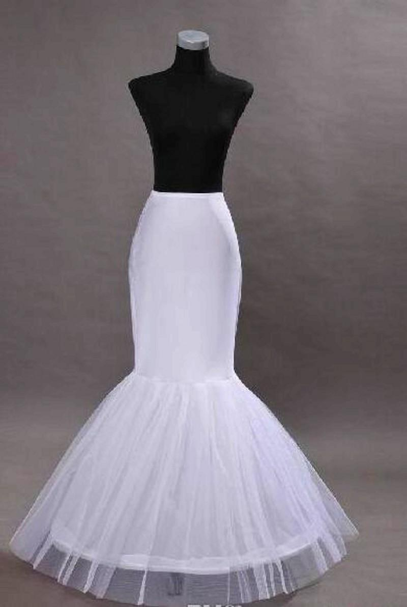 Hot Sale 2016 Cheap Petticoats White Mermaid Petticoats For Bridal Dress Crinoline Mermaid