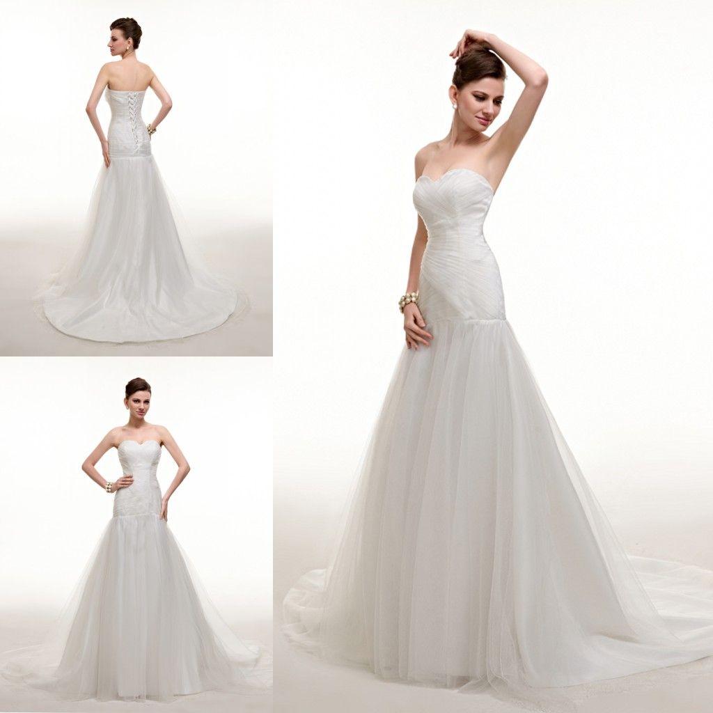 2015 elegant simple white cheap wedding dress sweetheart for Simple elegant wedding dresses cheap