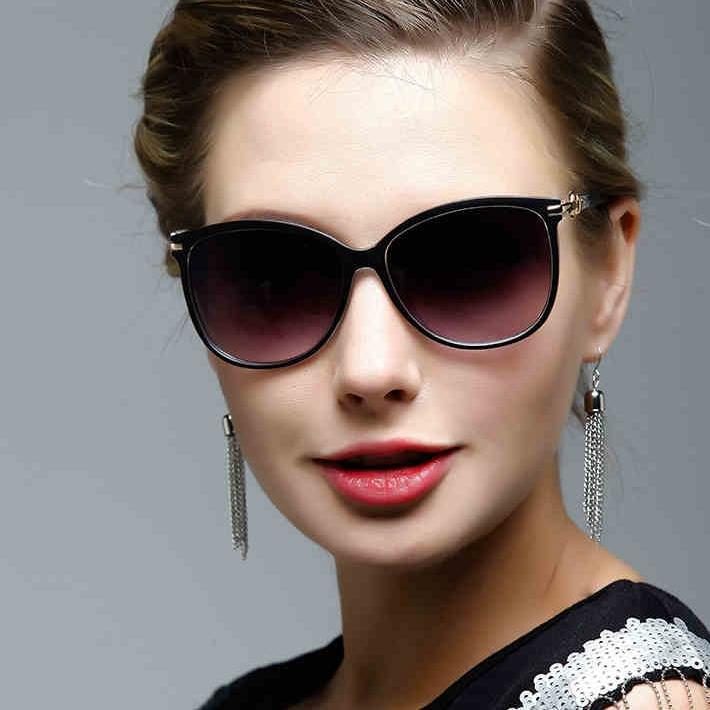 best designer sunglasses for women  Large Frame Sunglasses Female 2015 Elegant Retro Cat Eye ...