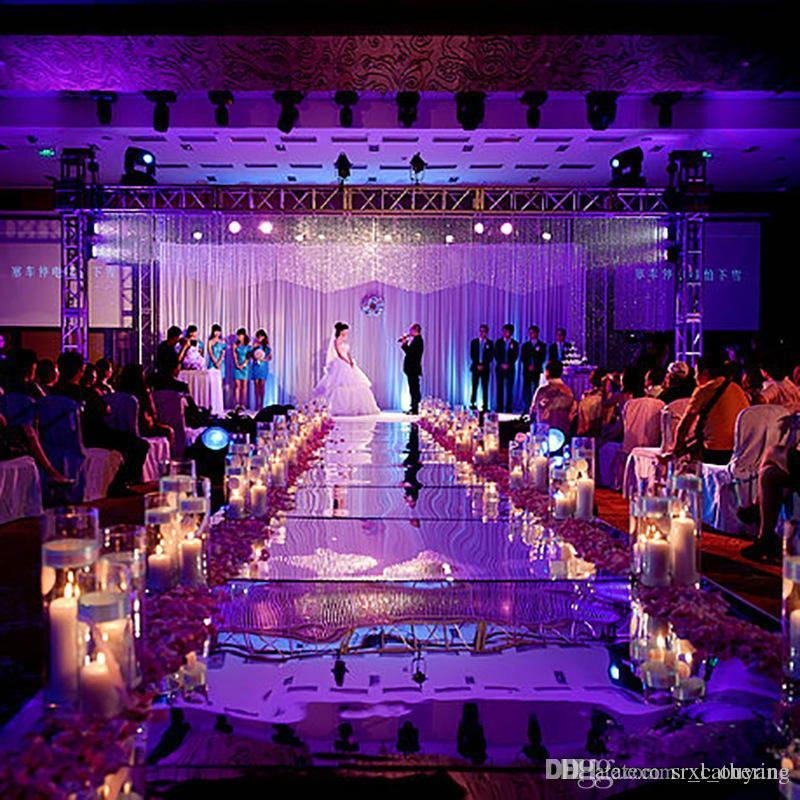 Popular Wedding Centerpieces Mirror Carpet Aisle Runner