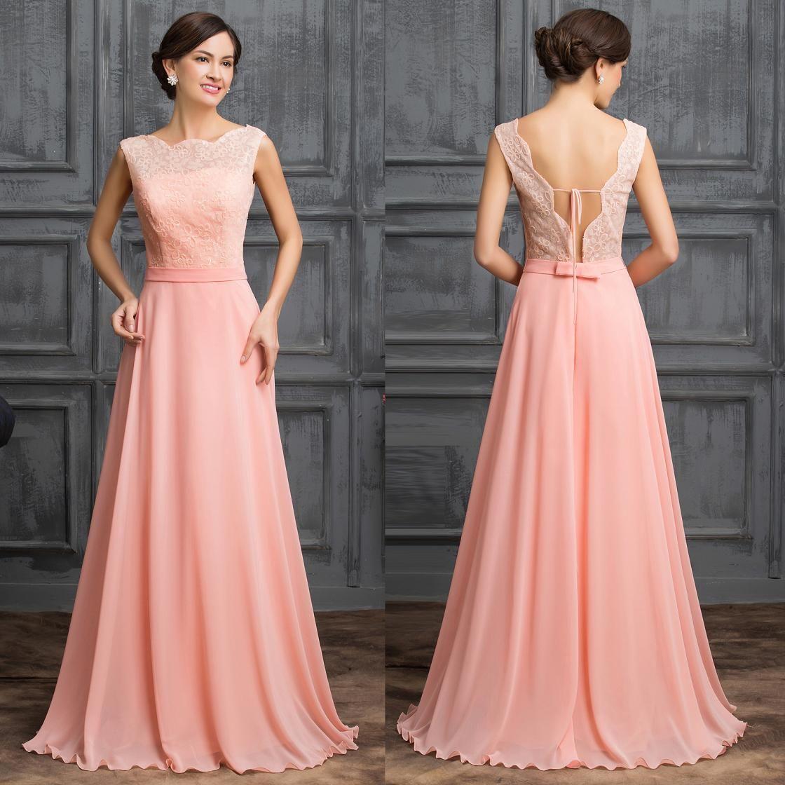 Grace Karin 2016 Light Pink Chic Long Evening Dress Bridesmaid ...