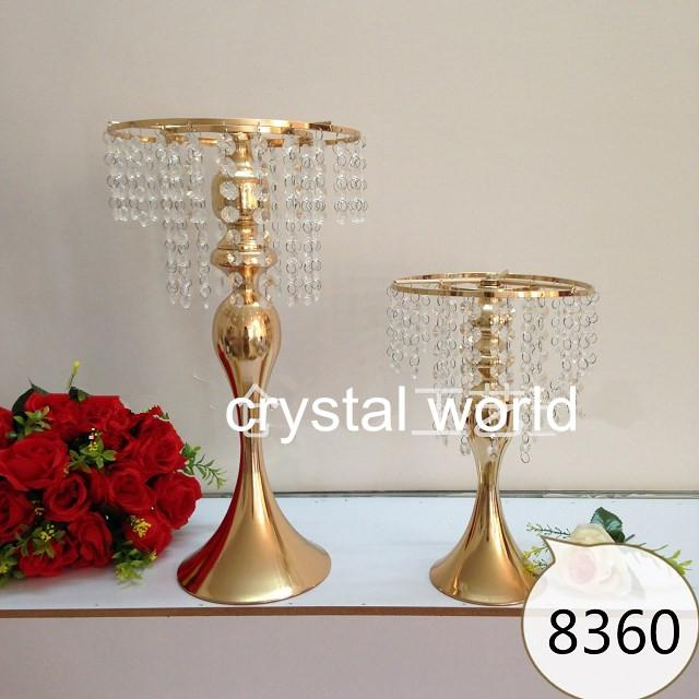 Tall Flower Centerpiece Stand : Tall gold mental flower stands wedding table