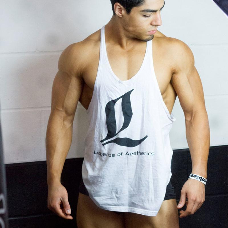 2017 loa brand gym tank top men bodybuilding stringer tank for Singlet shirt for mens