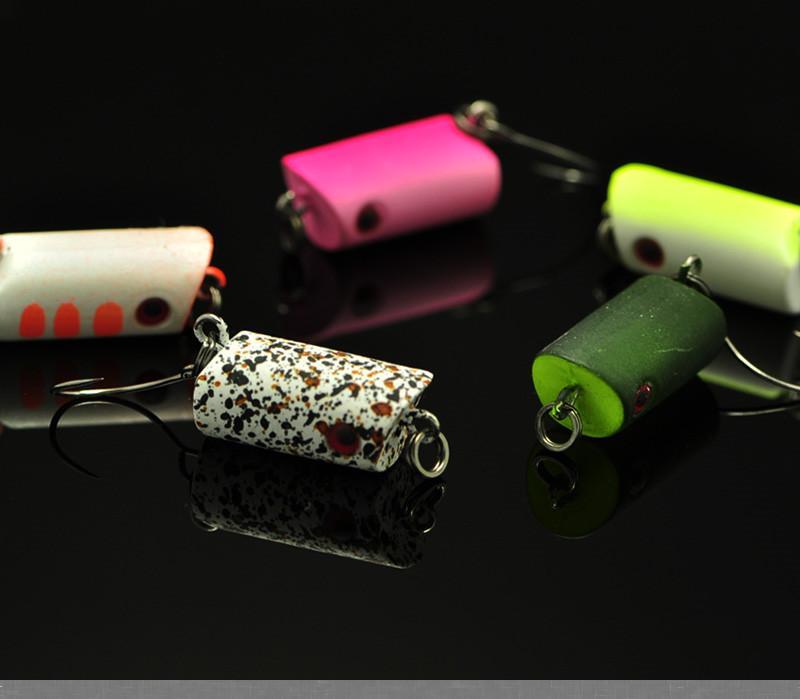quality mini popper fishing lure bait 2cm 3g grain bead single, Soft Baits