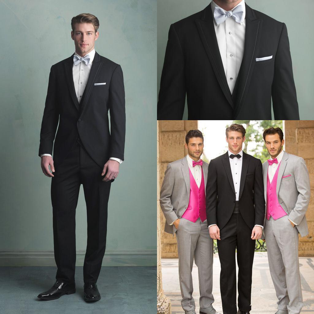 Modern Black Groom Tuxedos For Men Formal Suit Wedding Groomsman ...