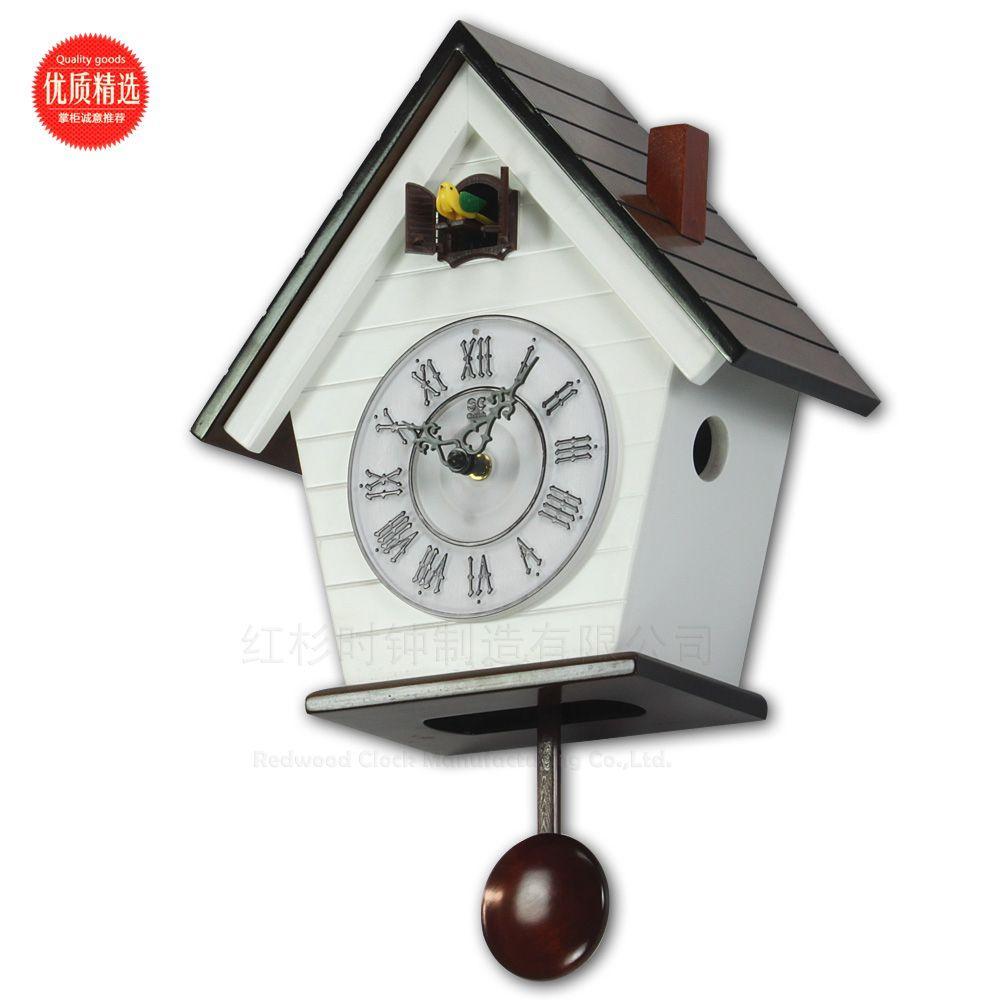 Cuckoo clock european style small wooden clock the bird tell time fashion simple wall clock - Cuckoo clock plans ...