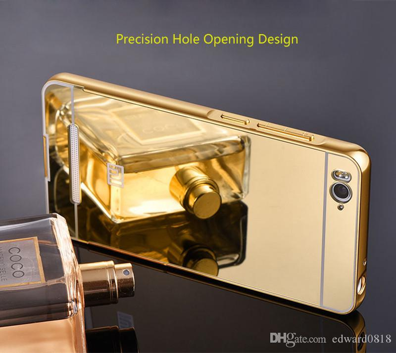Fashion mirror surface pc back cover metal aluminum for Mirror xiaomi to pc